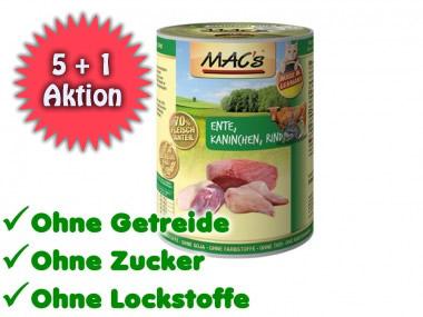 MACs Katzenfutter 6x400g für 7,45€ / 1,24€ pro Dose