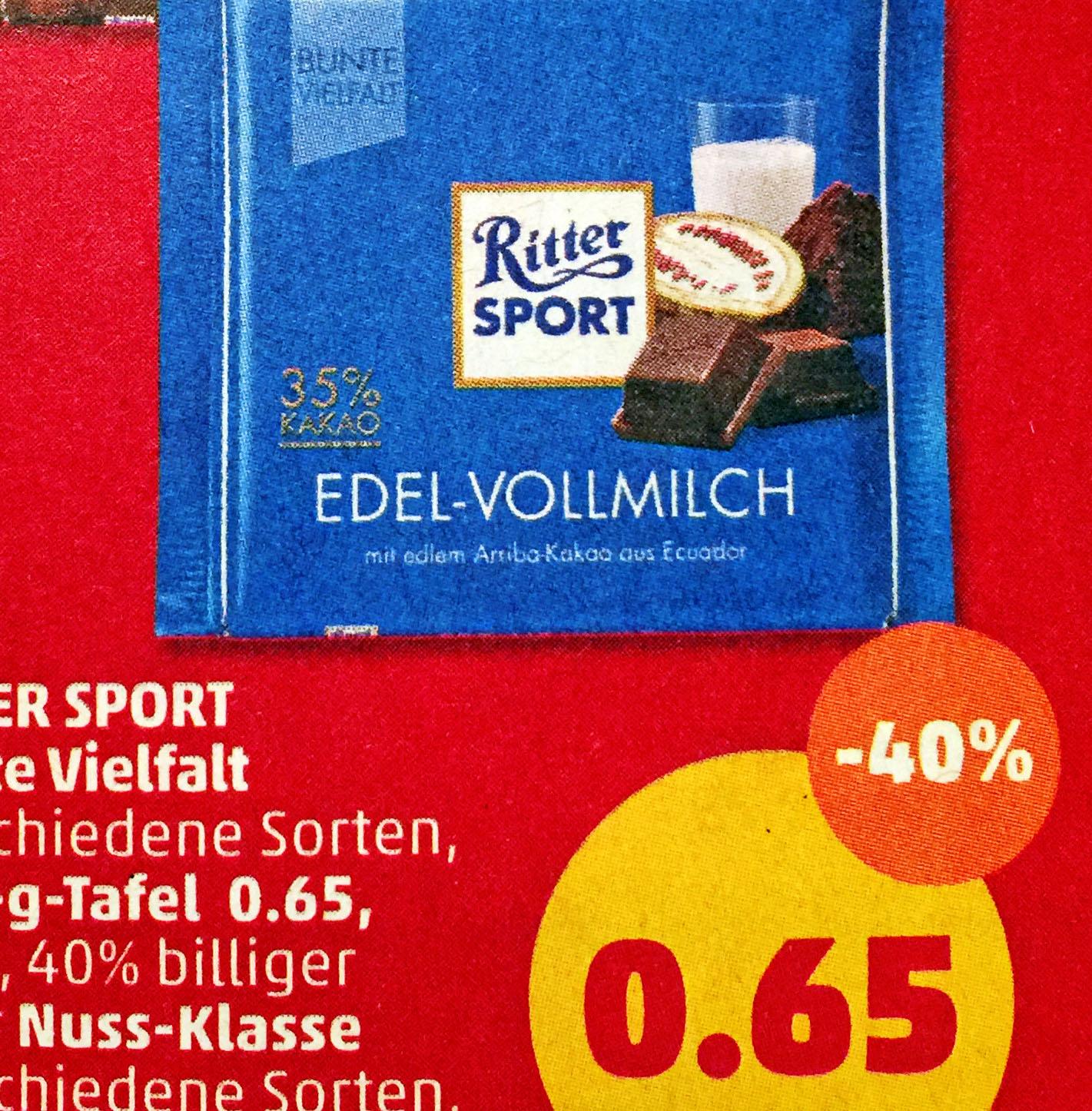Ritter Sport Bunte Vielfalt für nur nur 65 Cent bei (Penny) ab 22.1.