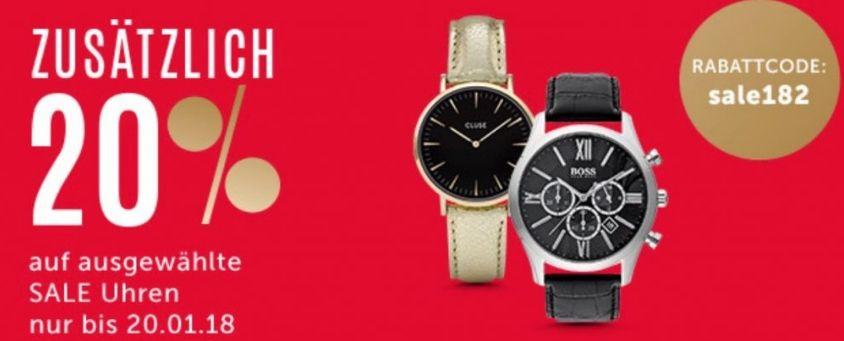 [Christ.de] 20% Extra-Rabatt auf ausgewählte reduzierte Uhren