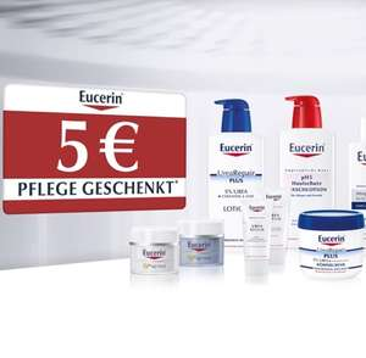 Eucerin: 5€ geschenkt ab 20€ Einkaufswert (Apotheken)