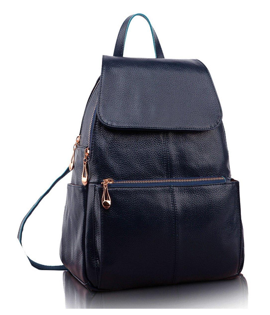 Amazon Damen Echtes Leder Rucksack Vintage Rucksack Damen Mode Schulrucksack Saphir 34,99 Euro 30% Aktion