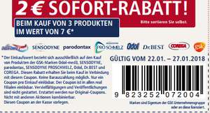 COLD - Real Coupon auf Odolmed3, Sensodyne, Paradontax, Proschmelz, Odol, Dr Best, Corega, GSk