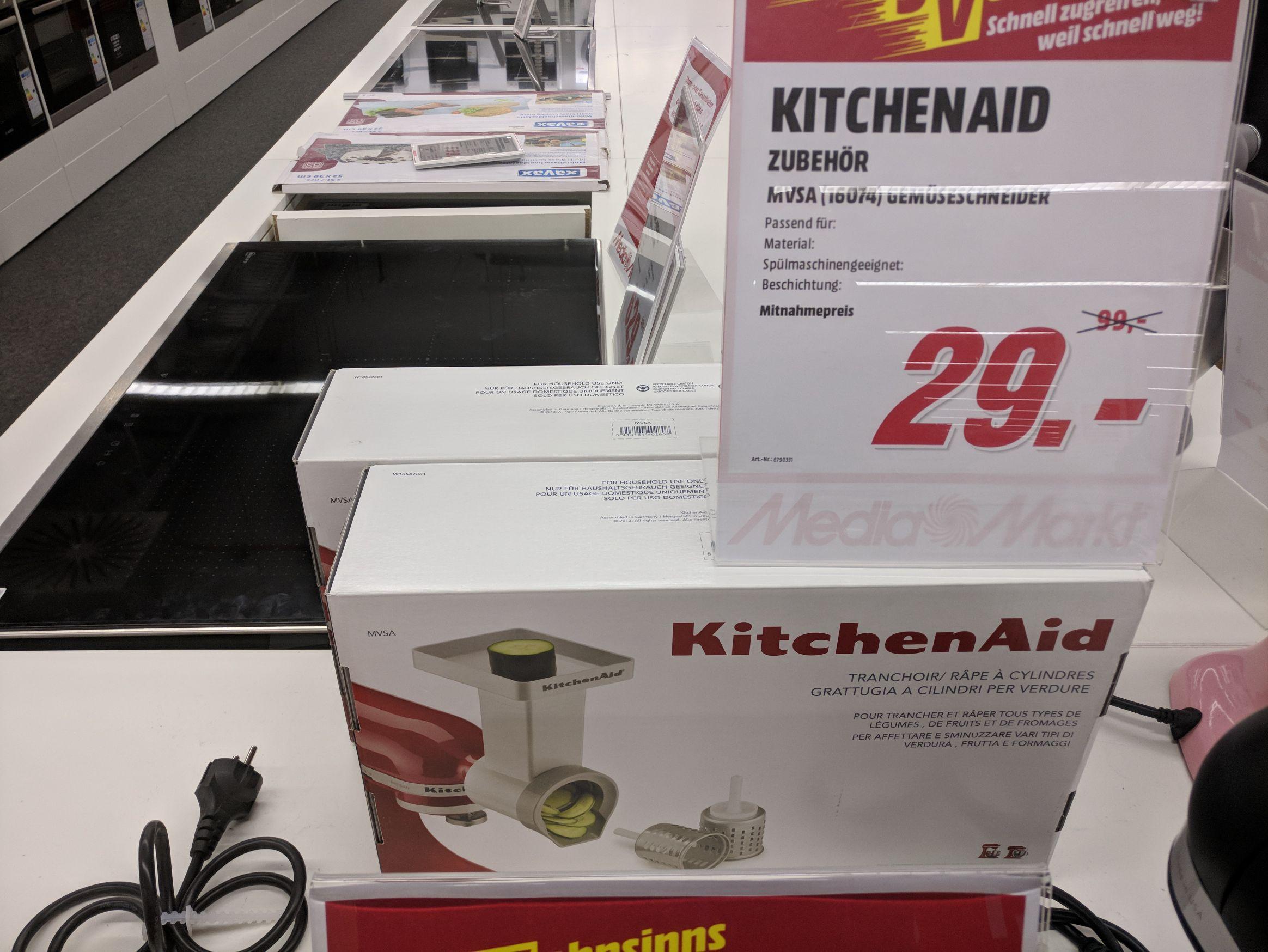 [Lokal Media Markt Frankfurt Main Taunus Zentrum] KitchenAid Gemüseschneider für 29 Euro