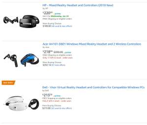 Windows Mixed Reality Headsets inklusive Controller für etwa 259€