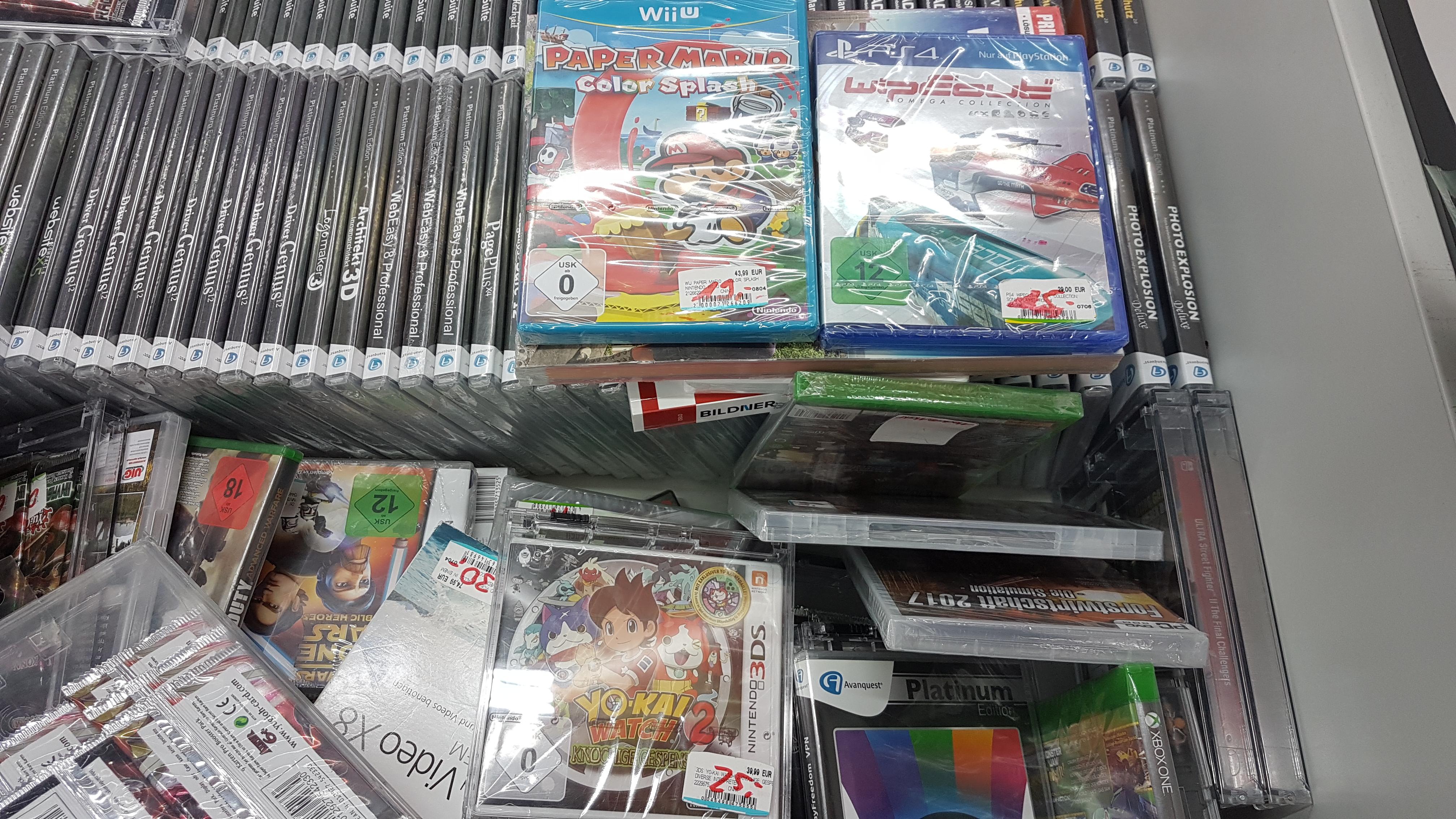 (Lokal MM Brandenburg) u.a. Wipeout Omega Collection für 15€, Paper Mario Color Splash (WiiU) für 19€ und Skyrim Special Edition (PC) für 5€