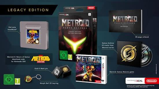Nintendo 3ds Metroid Samus Returns Legacy Edition