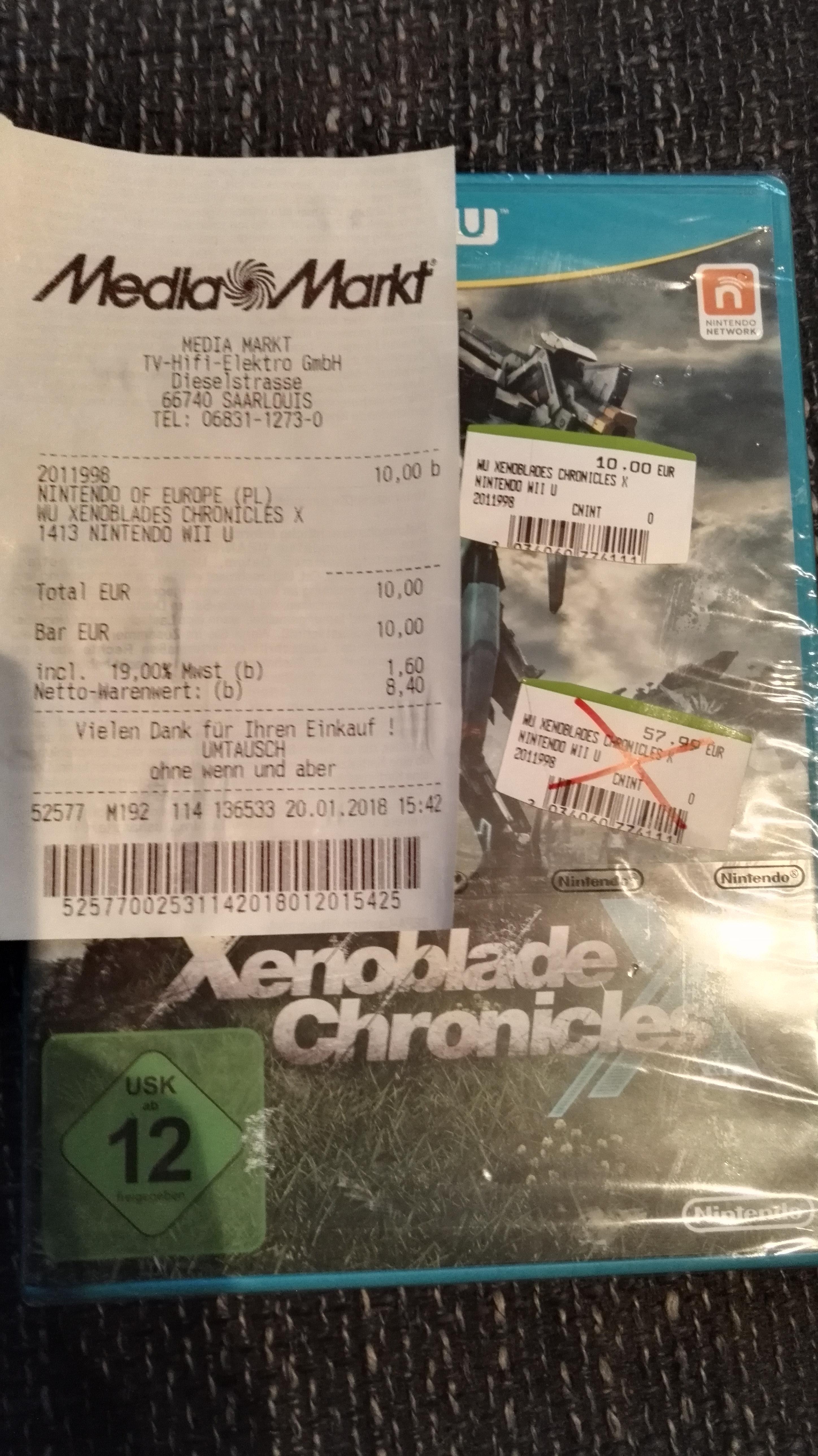 (Lokal Media Markt Saarlouis) Xenoblade Chronicles X ( WII U )