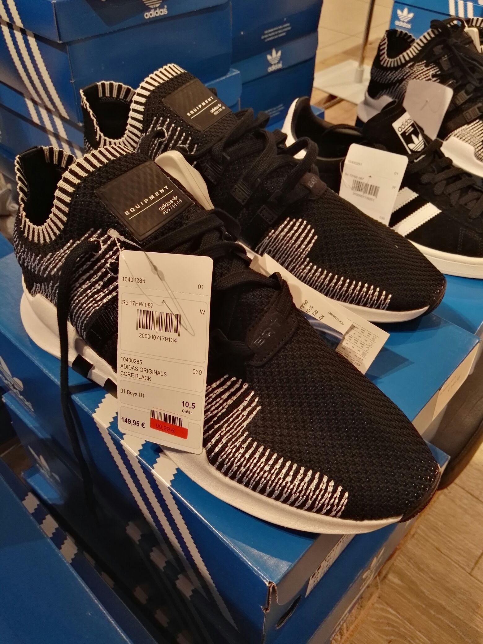 *LOKAL Ingolstadt* Adidas Originals EQT Sneaker black white