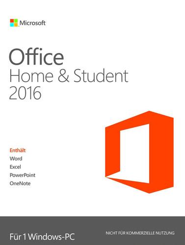 [mysoftware.de] Office Home and Student 2016 (Dauerlizenz für 1 Win-PC)