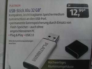 [ALDI SÜD] Platinum USB-Stick 32GB ab