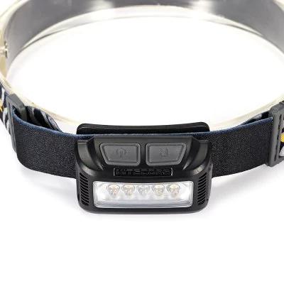 Stirnlampe mit 160 Lm, Rotlicht und USB-Anschluß