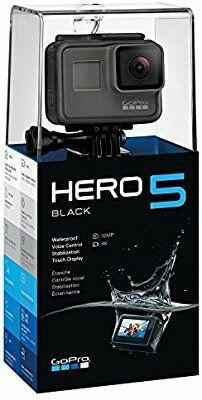 GoPro HERO5 Black Action Cam - 5,0 cm (2 Zoll) LCD Display Touchscreen, Foto: 12 Mgpx, Video 4K, Bluetooth, Wasserdicht
