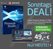 Corel Pinnacle Studio 21 Plus - fortgeschrittenes Videoschnittprogramm mit über 1.800 Effekten und Filtern