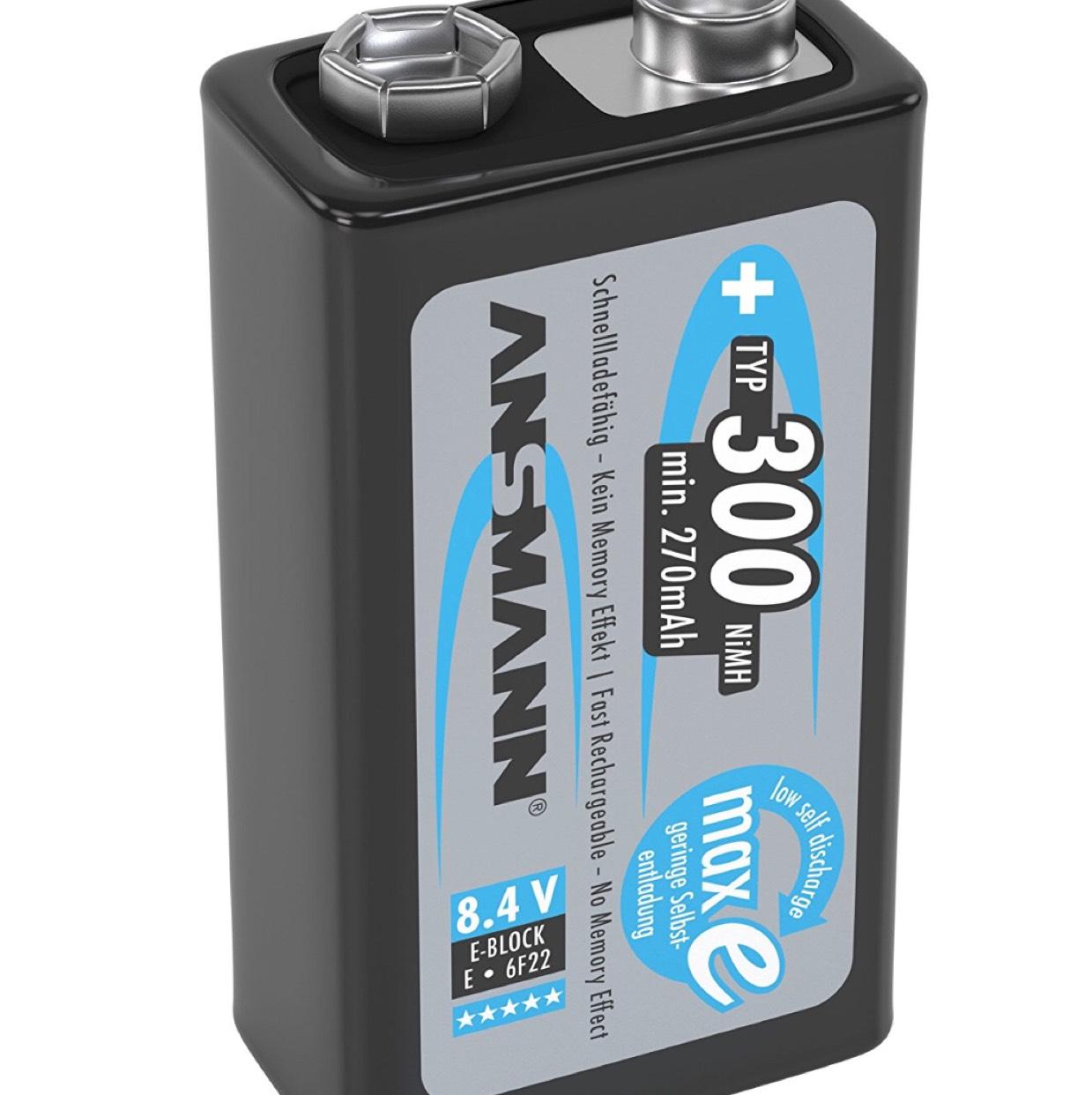 Ansmann Akkubatterie 9v 300 mAh