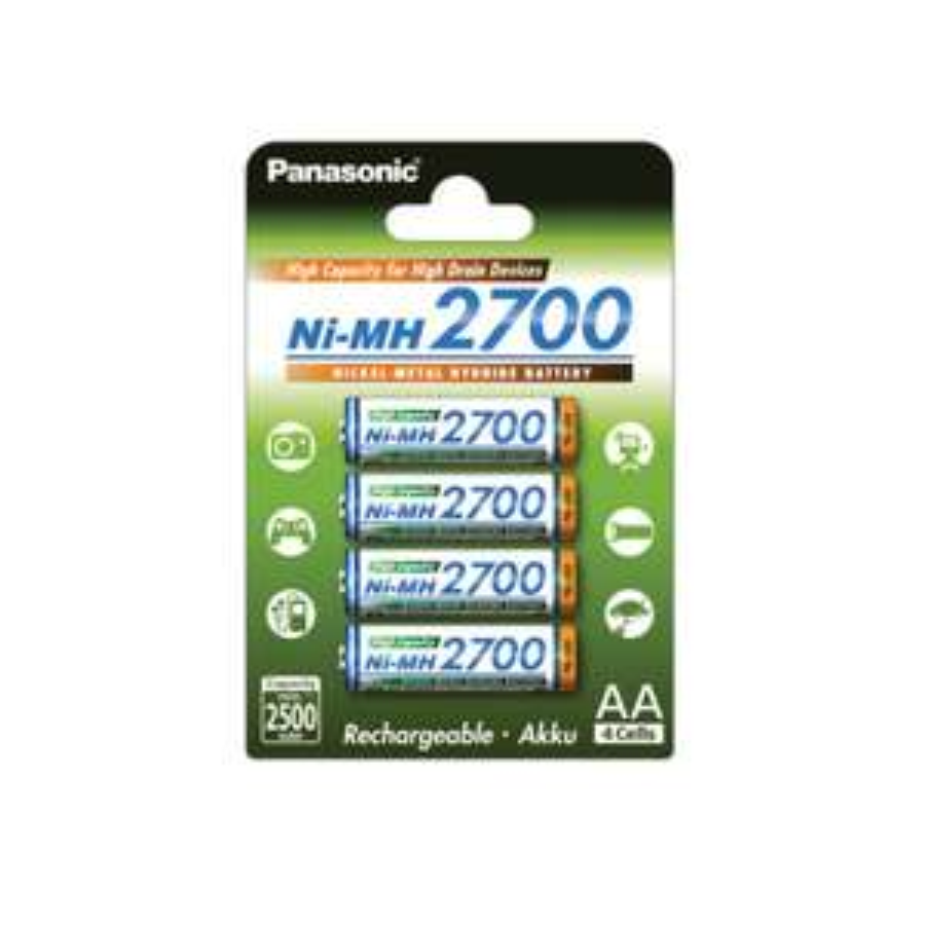 Panasonic Akku 2700mAh NIMH 4er-Blister BK-3HGAE/4BE AA Mignon