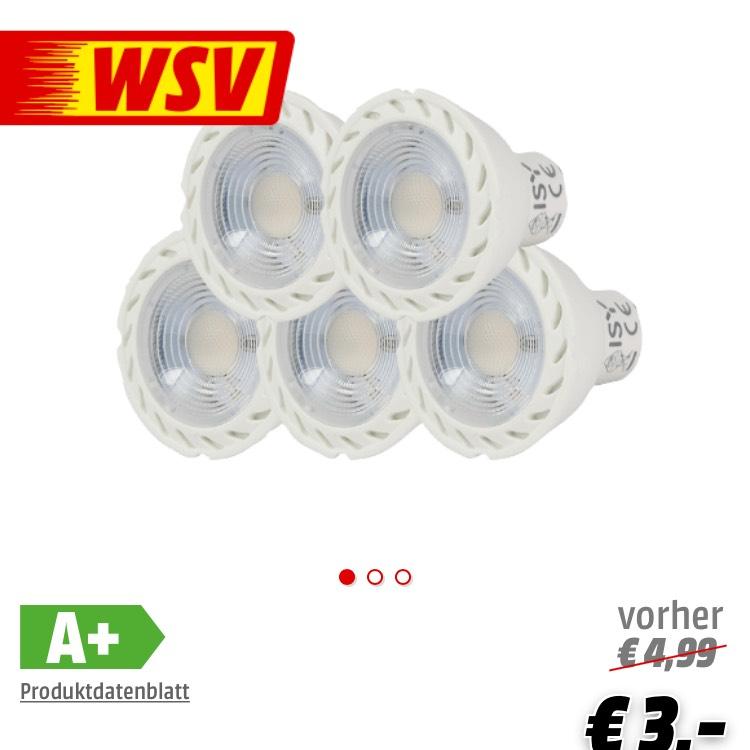 ISY ILE-1050 5-tlg. LED Lampen GU10 3 Watt 200 Lumen