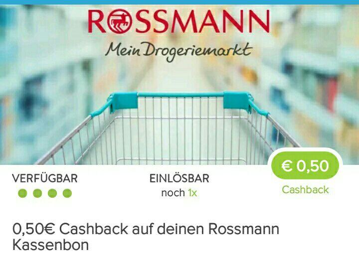 [Marktguru-App] 0,50€ Cashback auf Rossmann Kassenbon