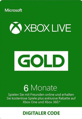 6 Monate Xbox Live Gold für 11,99€ (Microsoft)
