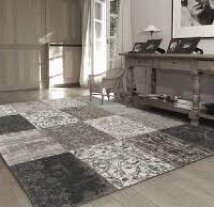 LOUIS DE POORTERE VINTAGE TEPPICH black & white - 240x170 cm
