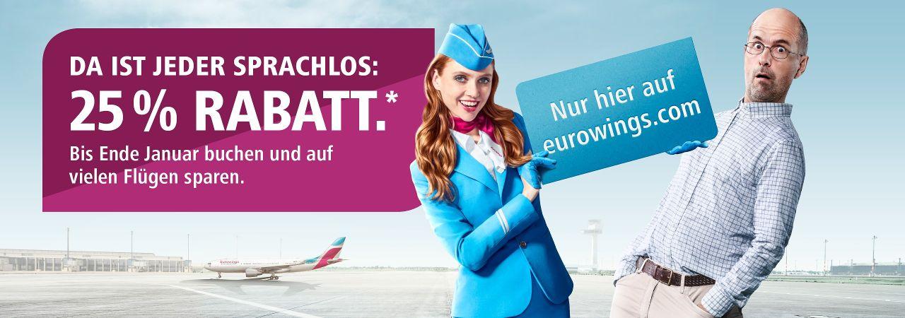 Flugangebote von Eurowings