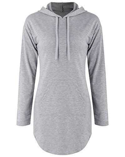 [Amazon] BIUBIU Damen Hoodie Kleid Langarm Pullover Sweatshirtkleid Jumper Gr. 34 - 38