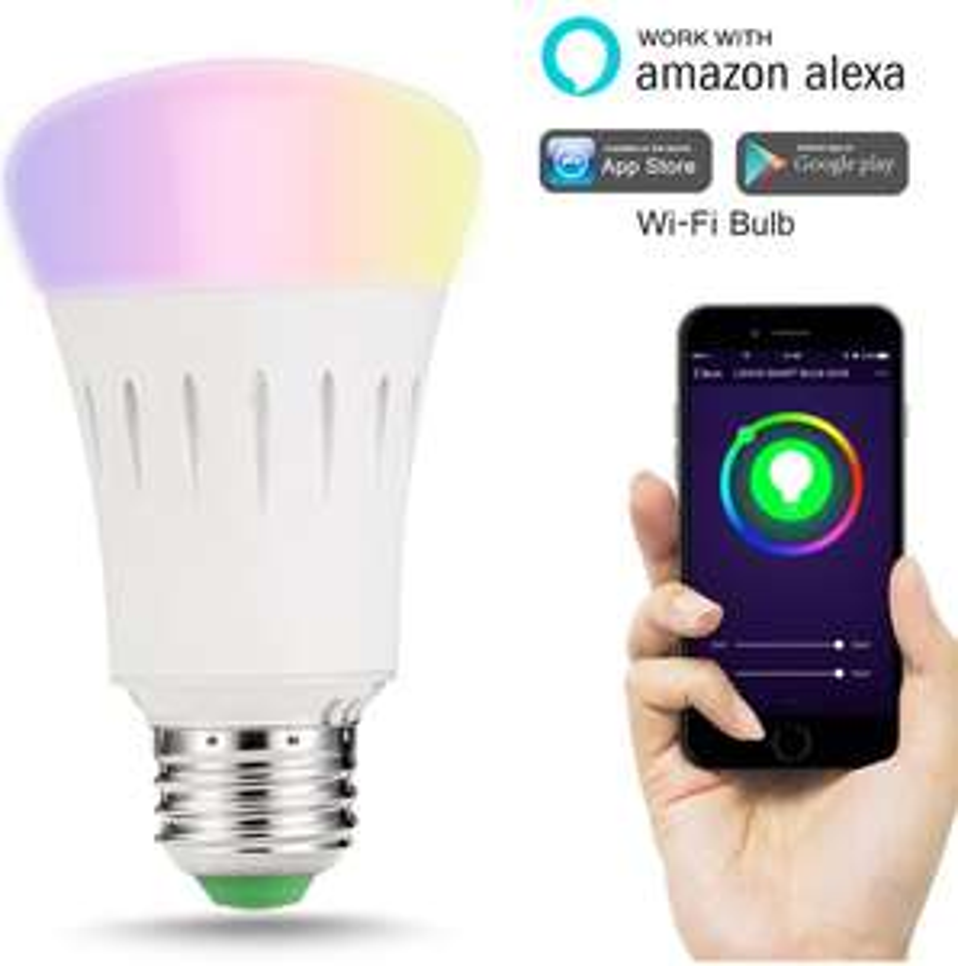 WLAN LED Birne 9W E27 mit Alexa oder GoogleHome steuerbar