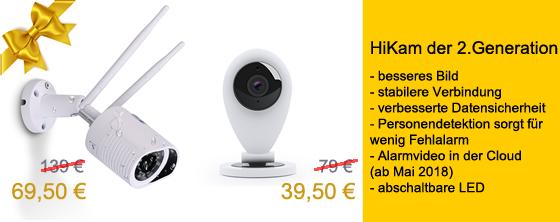 HiKam Überwachungskamera A7 bzw. S6 für die hälfte bei Amazon