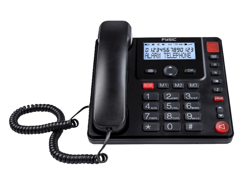 Fysic FX-3950 Kabelgebundenes Seniorentelefon zusätzlich mit kabellosem Alarmknopf