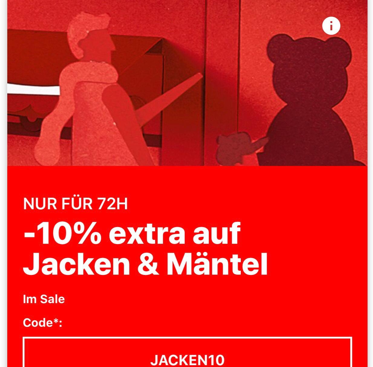 10% extra Rabatt auf Jacken & Mäntel bei Zalando. Kein MBW.
