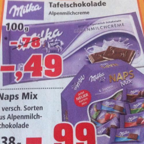 Milka Schokolade 100g für 49Cent @ thomas philipps
