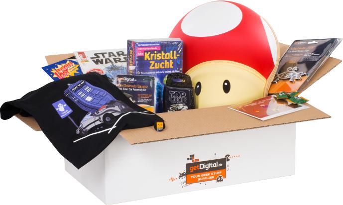 Lootbox: 10 nerdige Überraschungen T-Shirt Gaming Gadgets etc.