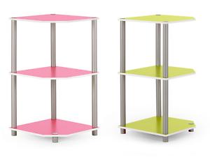 Kinderzimmer 2-farbig, Regal 2 Fächer - Ecke modern mit Wendeboden grün pink Mavito [EBAY]