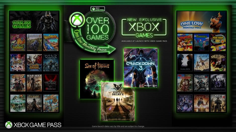 Ab sofort alle neuen Xbox One Exklusivspiele von Microsoft im GamePass (u.a. bald Crackdown 3, etc)
