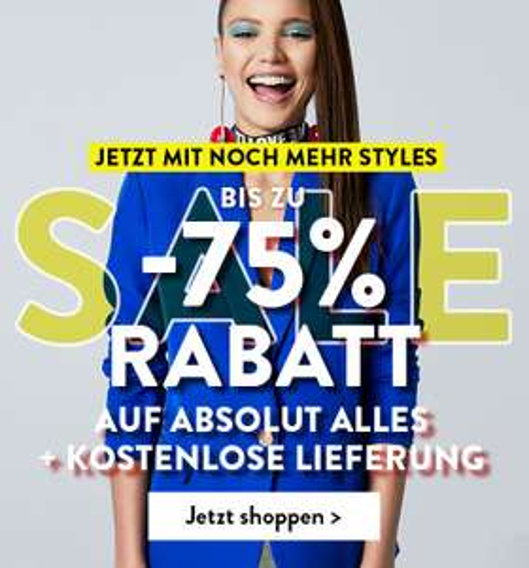 Riesiger Boohoo-Sale mit bis zu 75% Rabatt + gratis Versand, Kleidung ab 3€