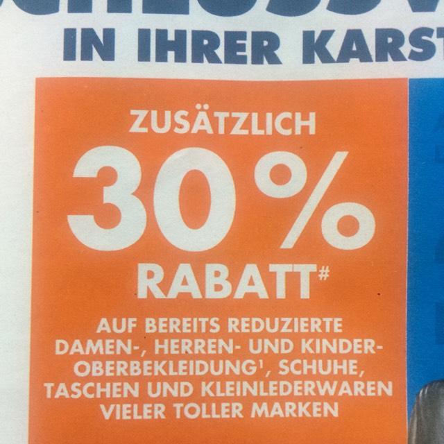 [Karstadt offline] zusätzlich 30% auf Sale