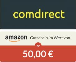 [Spartanien] 50€ Amazon-Gutschein für Comdirect Depoteröffnung