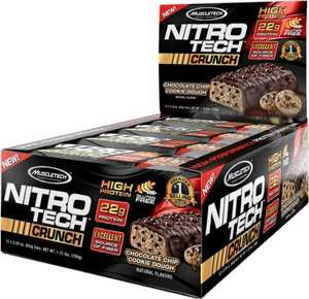 12 Proteinriegel (MuscleTech Crunch Bar) für 12,41€