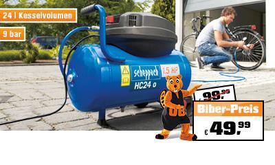 Für die Hobbyschrauber! Kompressor 24 Liter Kessel 9 bar statt 99,99 € nur 49,99 €