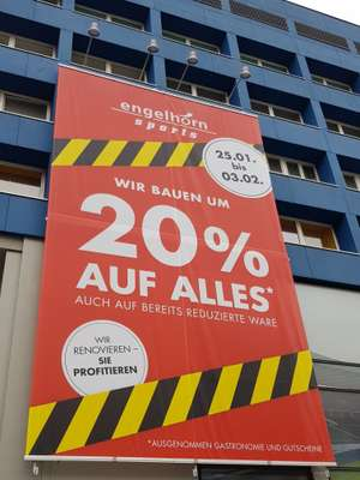 Engelhorn Sports Mannheim - 20% auf alles wegen Umbau
