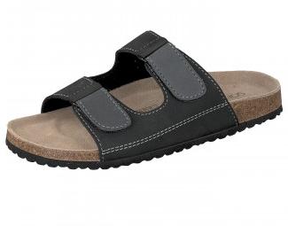 [shoes4friends.de] Herren Pantoletten Sandalen Clogs schwarz o.braun mit Klettverschluß für 14,95 € (statt 17,99 €)