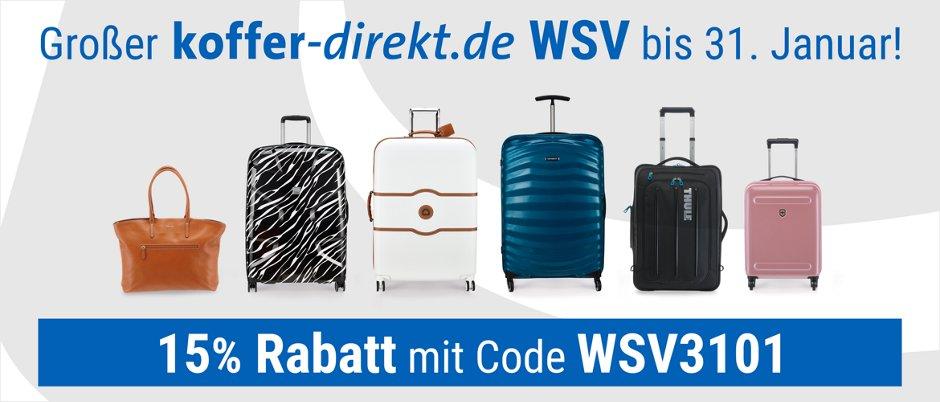 15 % Rabatt auf Koffer-direkt.de