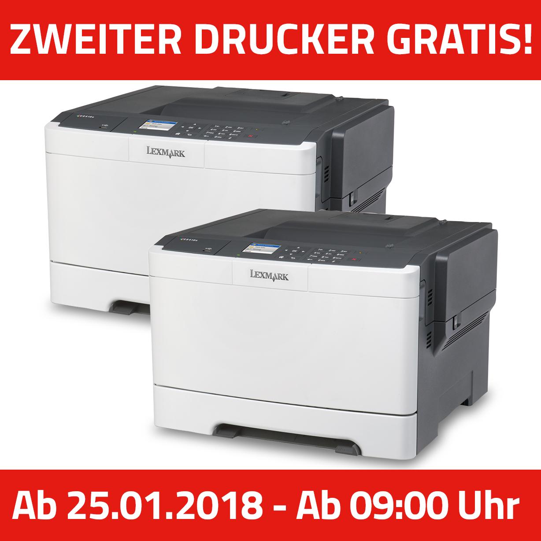 2 LEXMARK CS417dn Farblaser-Drucker A4, Drucker, Duplex, Netzwerk