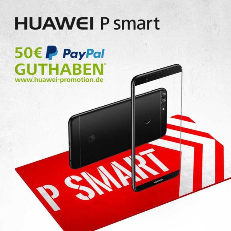 Huawei P Smart vorbestellen 50€ Cashback! LTE Dual SIM [Huawei-Paypal Promotion]