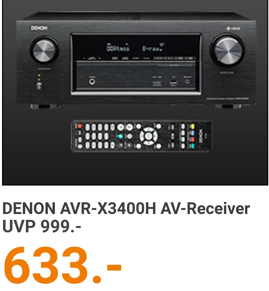 Cyberport Denon X3400H AV-Receiver mit XT32 Update