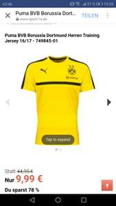 BVB Training T-Shirt 16/17 in Gelb XL-XXL