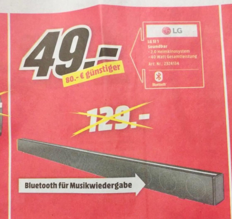 LG SJ 1 Soundbar - Mediamarkt Hamburg