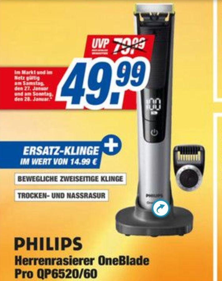 [Tevi Expert Nürnberg] Philips Oneblade Pro + Ersatzklinge 49,99€ ab Sa. 27.01.