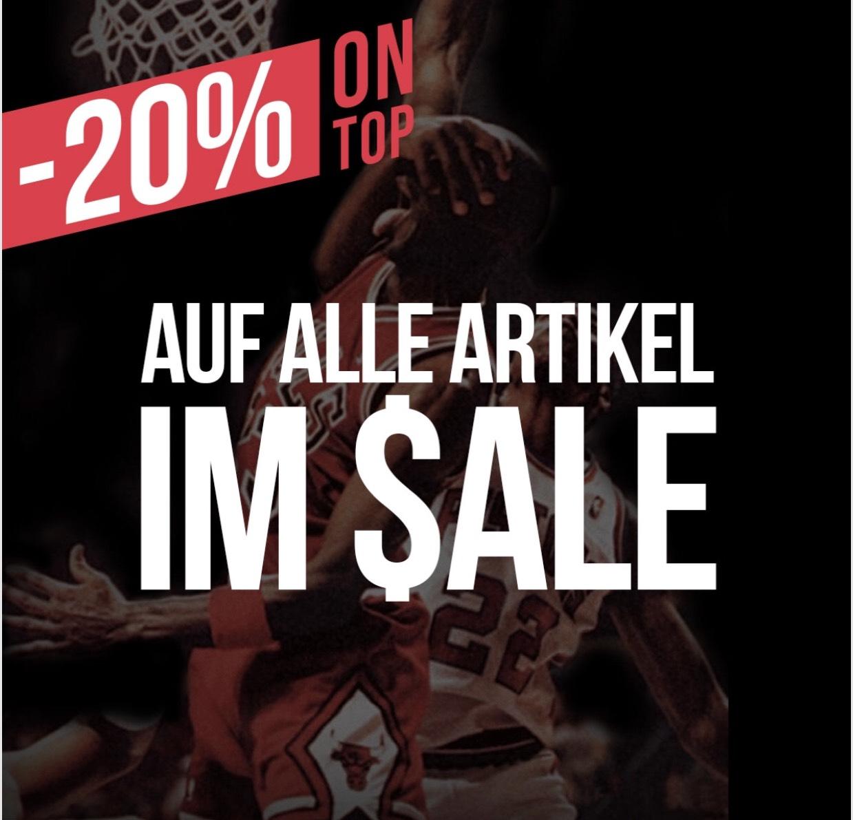 Kickz - 20% extra auf ALLE bereits reduzierten Artikel! Nike,Adidas usw.