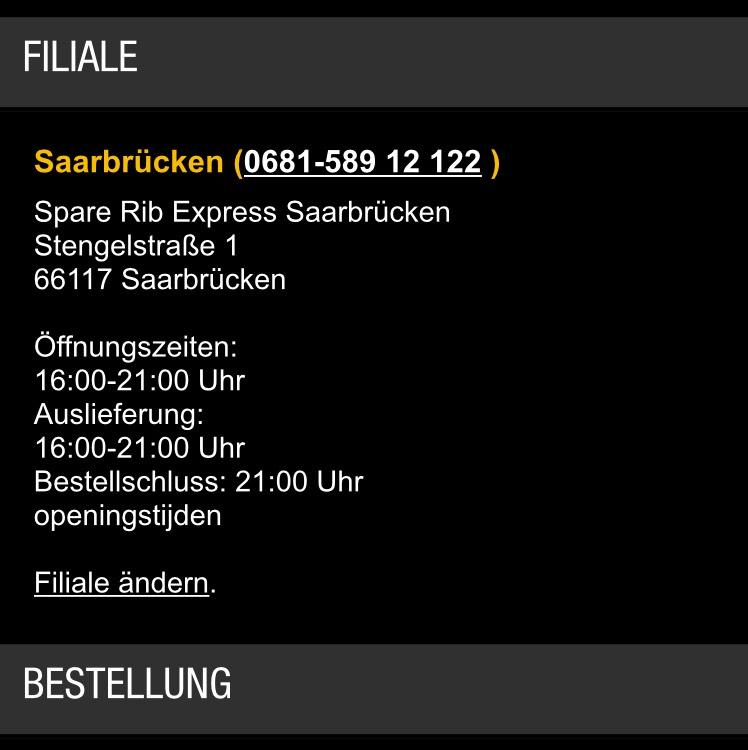 25% Gutschein bei Spare Rib Express Saarbrücken