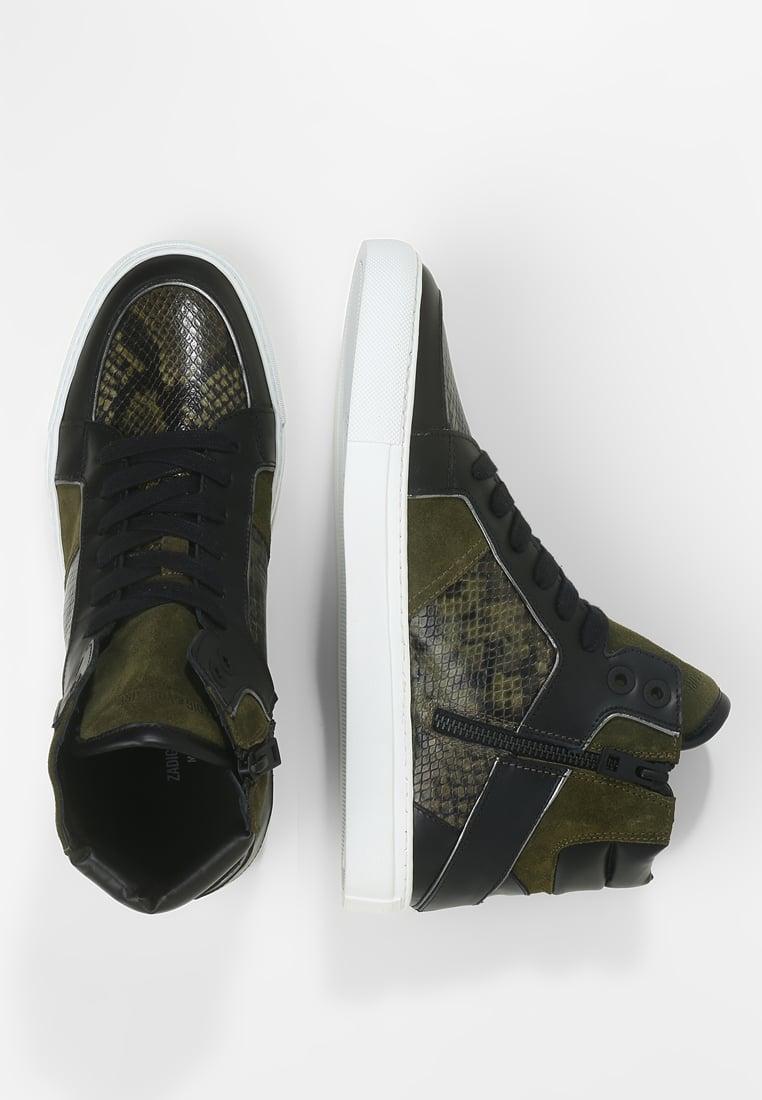 Sneaker Zadig & Voltaire High Tone in Kaki - MEGASCHNAPPER